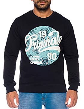 JACK & JONES Herrenshirt Herrenpullover JORMAGIC SWEAT MIX Crew Neck Kapuzenpulli 100% Baumwolle Slim Fit