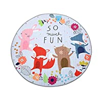 FLOWood Baby Nurser Rugs Large Kids Play Mat Round Play Marvel Rug Portable Toys Storage Bag Non-Slip Cotton Floor Gym,Toy Organizer Storage Drawstring Bag 58x58 Inches ...