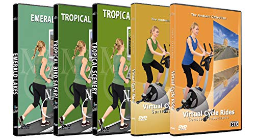 3 Nature Walks and 2 Cycle Rides DVD Combo Pack - Nature View HD - Scenic Route Videos for Treadmill Everyday Workouts - Natur-pack
