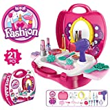 Popsugar Fashion Beauty Set with Hair and Make up Accessories for Girls, Pink