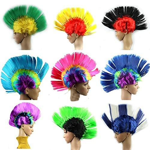 CDKJ Halloween-Kostüm, Punk, Mohawk, Mohikanischer Weihnachts-Kopfbehang (Farbe Ramdon) (Mohawk Halloween Kostüme)