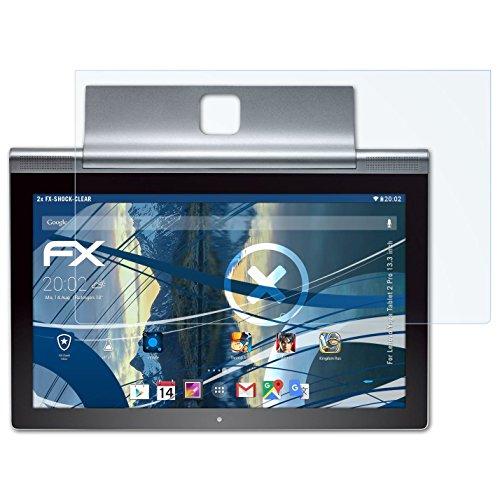 atFolix Schutzfolie kompatibel mit Lenovo Yoga Tablet 2 Pro 13.3 inch Panzerfolie, ultraklare und stoßdämpfende FX Folie (2X)