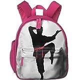 sd4r5y3hg Kids Backpack Cute Karate Men Printed School Bag Cartoon Travel Bag for Girls Boys