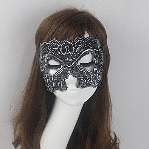 Mardi Feiern Gras (aukmla Spitze Sexy Augenmaske Feder spezielle venezianischen Masquerade Karneval Party Ball Masken für Frauen)