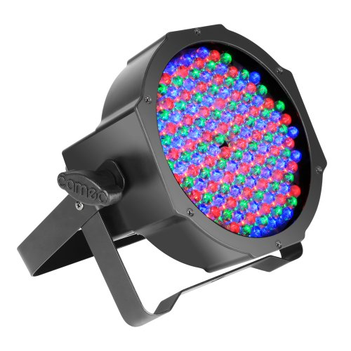Cameo Light CLPFLAT1RGB10IR Flat LED RGB PAR Scheinwerfer Spot in schwarzem Gehäuse 144 x 10 mm