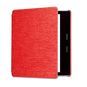 Kindle Oasis Water-Safe Fabric Cover, Red — Compatible with 9th (2017 release) and 10th generation (2019 release)