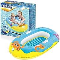 Lively Moments Aufblasbares Boot Kinderboot mit Krabbenmotiv zum Aufblasen ca. 119 cm in blau