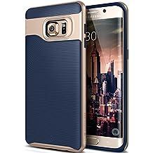 Caseology Wavelength Funda Oro, Marina - fundas para teléfonos móviles (Funda, Samsung, Galaxy S6 Edge Plus, Oro, Marina)