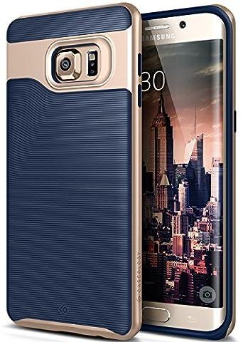 Coque Galaxy S6 Edge Plus, Caseology [Série Wavelength] Ultra Mince Protection à double couche résistant aux chocs [Bleu Marine - Navy Blue] Housse Etui Coque pour Samsung Galaxy S6 Edge Plus