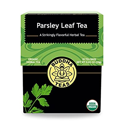 Organic Parsley Leaf Tea - Kosher, Caffeine-Free, GMO-Free - 18 Bleach-Free Tea Bags by Living Wellness Partners