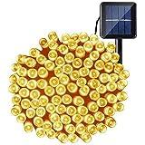 OxyLED Lichtsnoer op zonne-energie, kerstverlichting voor buiten, 200 leds, lichtketting op zonne-energie, voor buiten, 8 mod