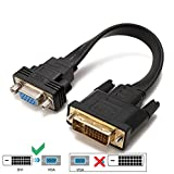 YIWENTEC Active DVI-D Dual Link 24 + 1 Stecker zu VGA Stecker M/F Video-Kabel Adapter