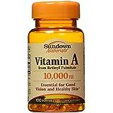 Sundown Naturals - Vitamine A 10000 IU - 100 Gélules