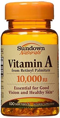 Vitamin A, 10,000 IU, 100 Softgels - Rexall Sundown Naturals - Qty 1