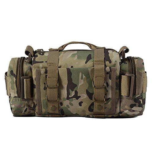 YAKEDA®Freien Multifunktionsrucksackbeutel für Männer und Frauen taktischer Rucksack Reiten Taschen Freizeit Kiste packen Schulter diagonal Rucksack 10L - B88023 (Wüsten-Tarnung) Wüsten-Tarnung