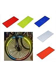 TOOGOO Pegatina De Bicicleta MTB Fluorescente Reflector De Bicicleta Accesorios Calcomanía Pegatinas Reflectantes De Llanta De
