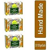 Divine India Haldi Chandan Soap, 125g (Pack Of 3)