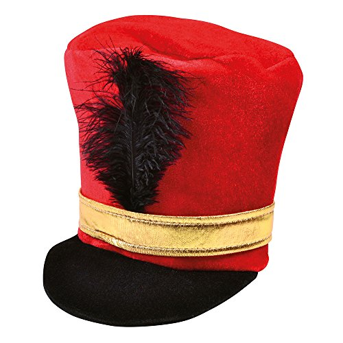 Bristol Novelty BH530 Soldier Hat Rot, One - Nussknacker Kostüm Halloween