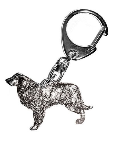 estrela-mountain-dog-keyring-silver-finish