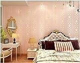 Yosot Europäische Stereoskopische Tapete Des Tapetenstapeschluxusschlafzimmers 3D Wärmen Gestreiften Wohnzimmerhintergrund-Wandtapete Rosa