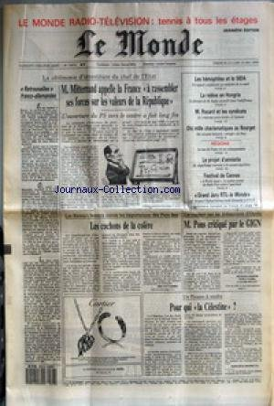MONDE (LE) [No 13472] du 22/05/1988 - RE...