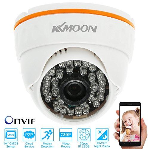 KKmoon Telecamera Dome IP Security ONVIF Indoor LED IR 720p CCTV