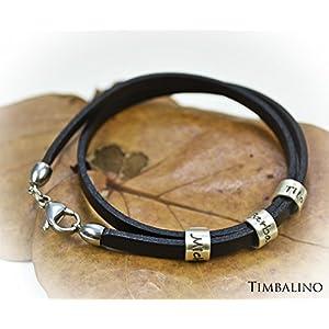 Wickelarmband mit Gravur, Silberanhänger mit Namen