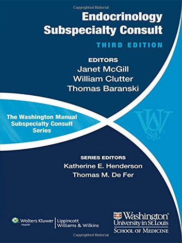Wash Manl Subspec Cons Endocrinol 3e PB (Washington Manual Subspecialty Consult Series)