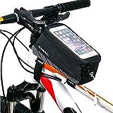 Intsun Sac de Guidon/Étui/Housse Nouveau Design Portable Sacoche Cyclisme Bicycle Smartphone Bag Écran Tactile 5.7 Pouce pour VTT Vélo de Route Vélo de Ville Vélo Pliant etc Noir 12496