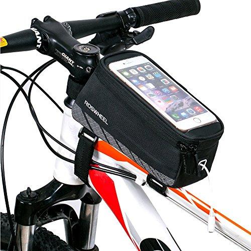 Fahrrad Rahmentaschen, Intsun® Radfahren Rahmentaschen, Wasserabweisende Fahrradtasche , Steuerrohr Taschen Packung, Handy Handyhalterung, Navigation Halterung ,Kopf Schlauchbeutel, Oberrohr Fahrrad Handytasche, Halter Steuerrohr Taschen Packung mit klaren PVC-Schirm und Ein Verlängerungskabel für iphone 6s plus / iphone 6 plus / iphone 6s / iphone 6, 5S / 5 / 5C / 4S / 4, Samsung Galaxy s6 edge/ s6 edge+/S4 / S3