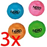 3 X CRAZY BOUNCING BALL BOUNCE OUTDOOR KIDS FUN BALLS GAMES NERO GIFT ACTIVITY