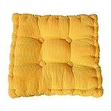 chytaii Sitzkissen, Sessel Sitz Sofa quadratisches Kissen Dick Spielzeug Puppe Geschenk Dekoration für Haus Esszimmer Auto Mehrfarbig gelb