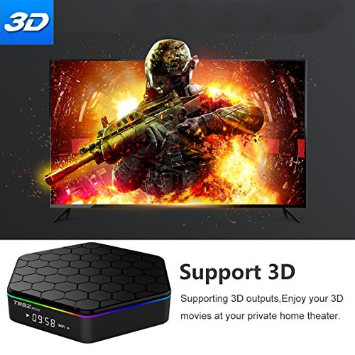 EASYTONE T95Z Plus Google TV BOX Android 7 1 Amlogic Octa Core 2GB DDR3 16GB EMMC Android TV Box Support 2 4G 5G Dual Band WIFI 1000M LAN 4K 3D With Wireless Mini Keyboard