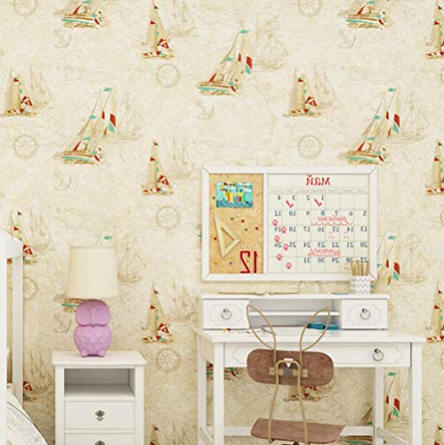 3D Hintergrundbild Wandbild Landschaft Wohnzimmer Schlafzimmermeter Gelb Blau Mittelmeer Segeln Kinderzimmer 3D Wallpaper Weltkarte Junge Mädchen Schlafzimmer Zimmer Tapetenrolle @ 400 * 280