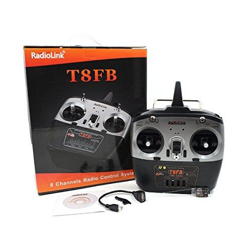 RONSHIN Radiolink T8FB Remote Control 2.4G 8-Channel R8EF or R8FM Optional Left Hand Throttle T8FB+R8EF (Helicopter Control Remote Easy)