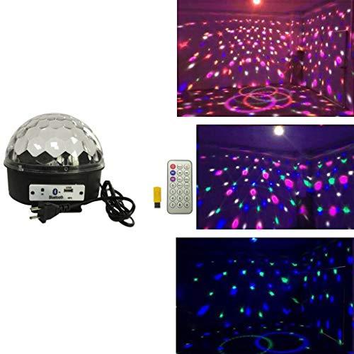 ARQG Disco Lichter, Disco Ball Lichter Verbessert 9 Farben RGB Party Lichter Blitzlicht, Fernbedienung Musik aktiviert DJ Licht Magie Rotierende LED Bühnenlicht für Geburtstagsfeiern Dekoration -