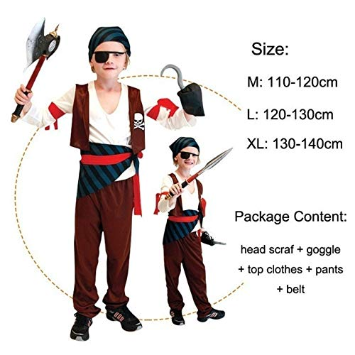 Hiwill Piraten der Karibik Pirat Captain Jack Sparrow Kinder Kleidung mädchen Jungen ()