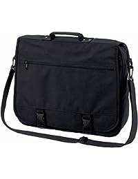 HALFAR - sac cartable sacoche bandoulière étudiant BUSINESS 1800775 - noir - mixte homme / femme -