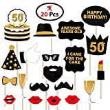 #4: Party Propz 50Th Happy Birthday Photo Booth Props- 20 Pcs