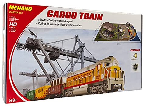 Mehano T113 Güterzug mit Layout - Elektrische Eisenbahn , Spur H0, mit
