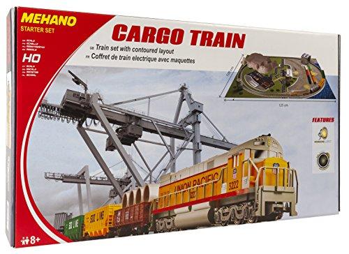 """Preisvergleich Produktbild Mehano T113 Güterzug mit Layout - Elektrische Eisenbahn , Spur H0, mit """"Industrial Passage"""" in Kunststoff"""
