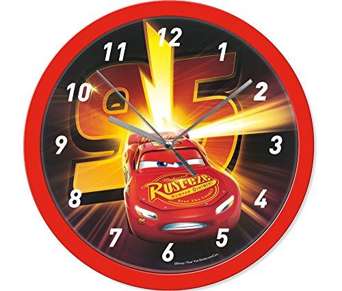 empireposter Wanduhr - Cars - Lightning - Größe Ø24 - Kinderuhr Disney McQueen Rennauto
