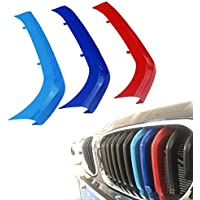 for 95-03 BMW 5 Series E39 10Grilles one Side 3D M Styling 3 Colors Front Grille Trim Motorsport Stripes Grill Cover Performance Stickers 3Pcs