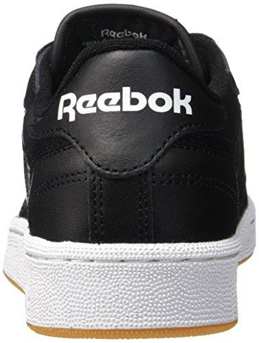 Reebok Club C 85, Deman Niedrig Schwarz (Int / Black / White / Gum)