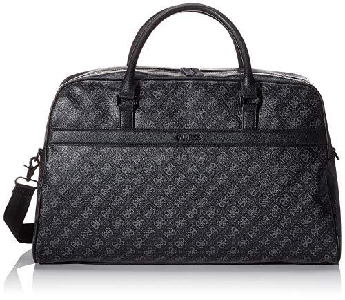 Guess 4G Sport, Bolsa para Hombre, Negro Black, 15x31x50 centimeters W x H x L