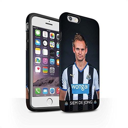 Offiziell Newcastle United FC Hülle / Matte Harten Stoßfest Case für Apple iPhone 6 / Pack 25pcs Muster / NUFC Fussballspieler 15/16 Kollektion De Jong