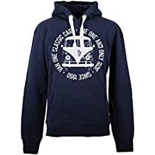 VAN ONE CLASSIC CARS Bulli Face Used Hoodie 2018 Navy White f48254e6983