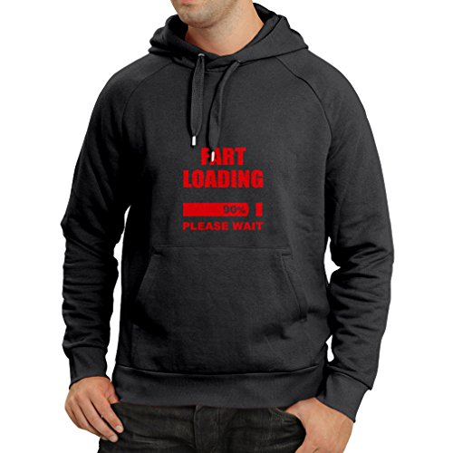N4104H sudadera con capucha Fart Loading Men's (X-Large Negro Red)