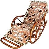 GDS Asiento de mimbre mecedora silla sillón cojines silla de salón para la plataforma NAP mayor , 1
