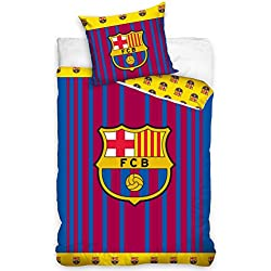 FCB Juego de Funda de edredón con diseño de Rayas del FC Barcelona